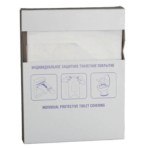 Покрытие индивидуальное защитное туалетное (100 шт/уп)