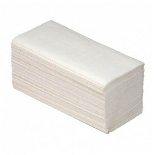 Полотенца лист. Z-слож. белые 2-сл. 23х22см