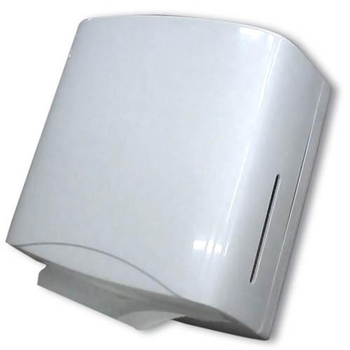 Диспенсер для бум. полотенец V-сл. (белый пластик) 700л