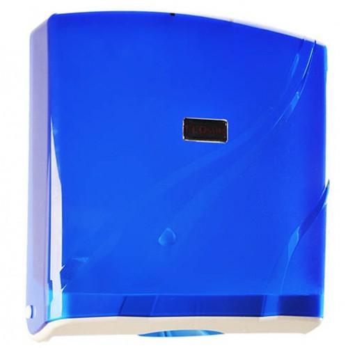 Диспенсер для бумажных полотенец универс. ( для V-Z-сл.) голубой пластик