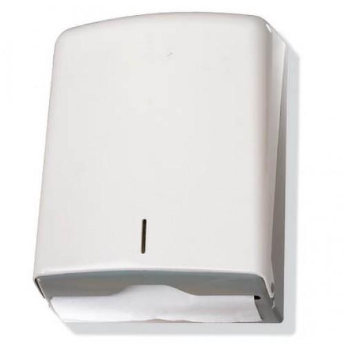 Диспенсер для бумажных полотенец Z-сложение (белый пластик