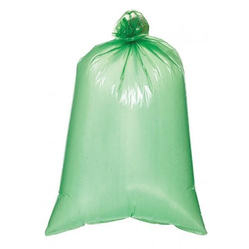 Мешок для мусора 20мкр (120л) зеленый ПНД,