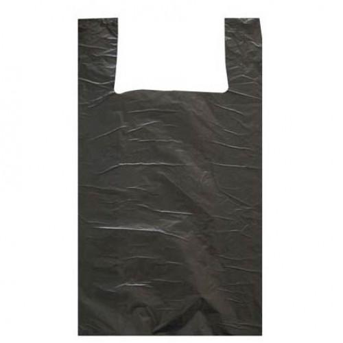 """Пакет """"майка"""" (45+26-фальцы)х75мм 20мкр черная"""
