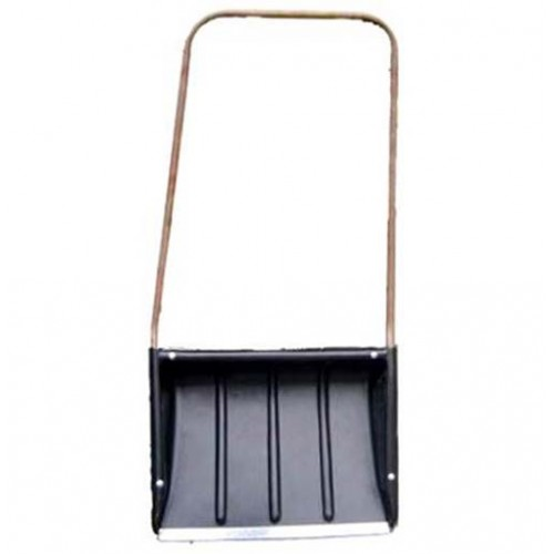 Движок для снега 750х550 мм с метал.ручкой, с метал.планкой (пластик)
