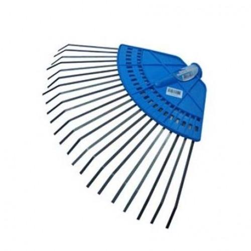 Грабли веерные пластинчатые на пласт.основе, 20 зубьев, б/черенка