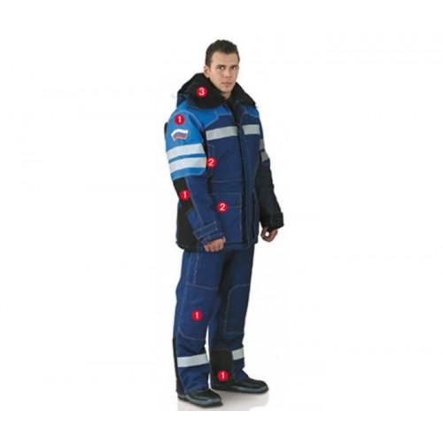"""Костюм """"Бизнес"""" (куртка+полукомбинезон), анти статичный, утепленный"""