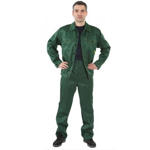 """Костюм """"Дока"""" с брюками (т.зеленый/желтый)"""