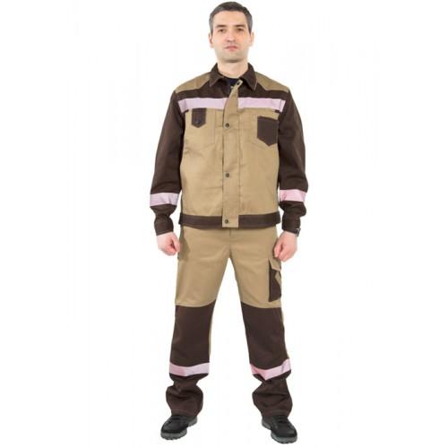 """Костюм """"Гудзон"""" с брюками (бежевый/коричневый)"""
