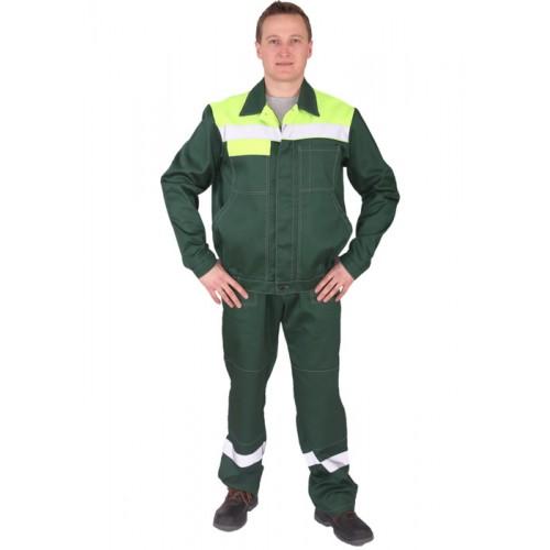 "Костюм ""Легион""  с брюками (т.зеленый/лайм)"