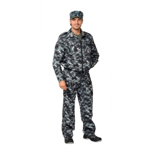"Костюм ""ФРЕГАТ"" для охранника: куртка, брюки КМФ серый"