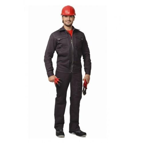 """Костюм """"МАРС"""": куртка длин, брюки, х/б серый"""