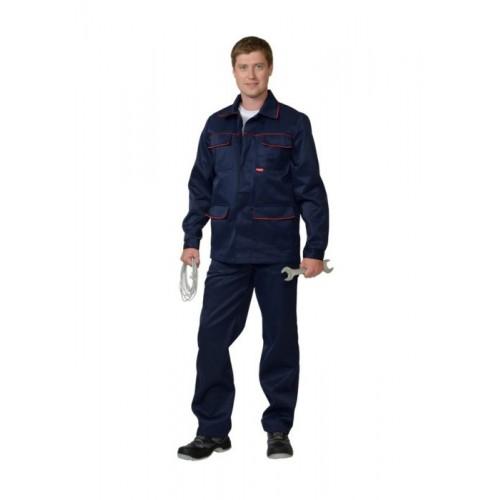 """Костюм """"ПРОФЕССИОНАЛ"""": куртка, полукомбинезон синий с красным кантом тк.CROWN-230"""