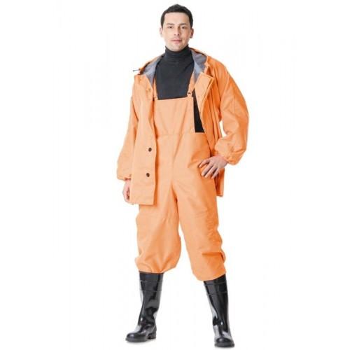 """Костюм """"РЫБАК"""": куртка, полукомбинезон (тк. """"Грета"""" прорезиненная) оранжевый"""