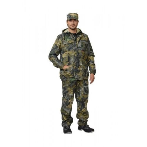 """Костюм """"РЫБОЛОВ+"""": куртка, брюки, жилет (тк. смесовая) КМФ """"Клён"""""""