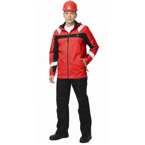 """Костюм """"Сидней"""" куртка, брюки красный с черным тк.Rodos (245 гр/кв.м) Tomboy"""
