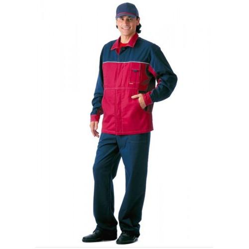 "Костюм ""СМЕНА"": куртка, полукомбинезон синий с бордо"