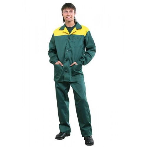 """Костюм """"СТАНДАРТ"""": куртка, брюки зелёный с жёлтым"""