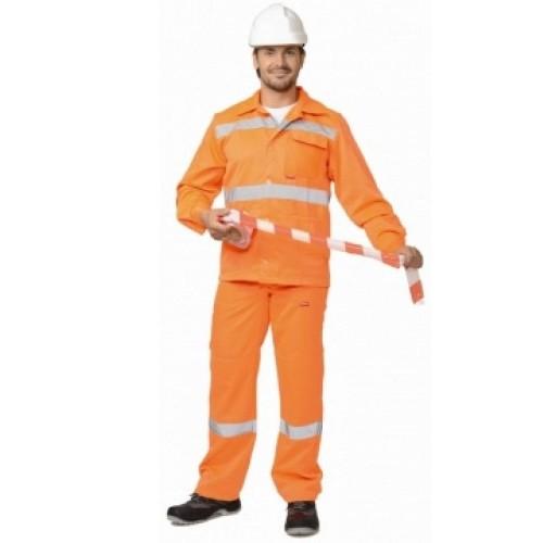 """Костюм """"МАГИСТРАЛЬ-СТАНДАРТ"""": куртка, брюки оранжевый с СОП"""