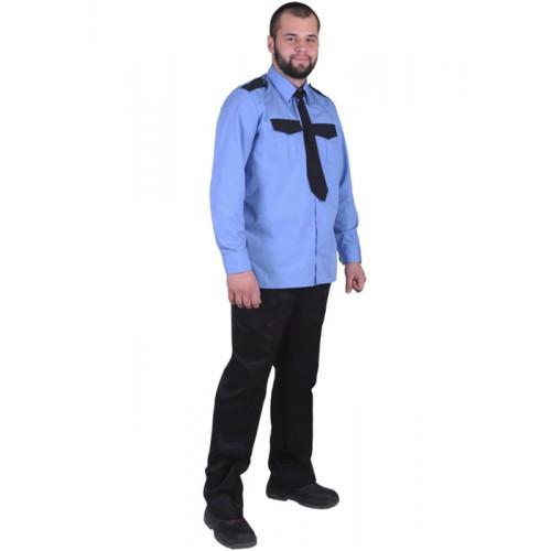 """Рубашка """"Охранник"""" мужская с длинными рукавами"""