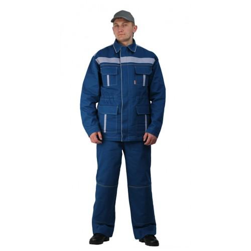 """Костюм мужской """"Актуал NEW"""" с брюками бирюзовый с серо-голубым"""