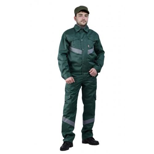"""Костюм мужской """"Дока Моготекс"""" с полукомбинезоном зеленый"""