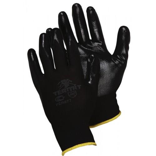 Нейлоновые перчатки с нитриловым покрытием