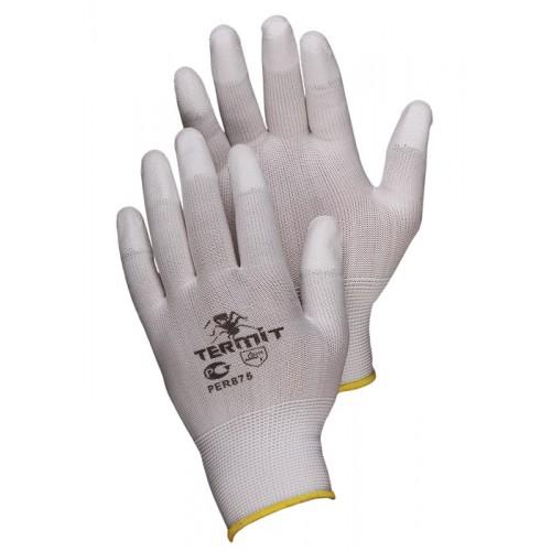 Нейлоновые перчатки с П/У покрытием пальцев