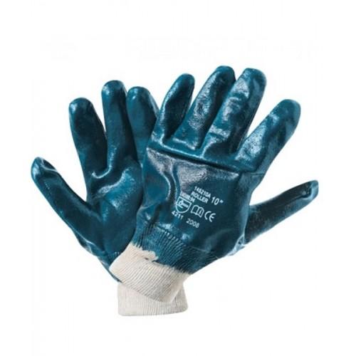 Перчатки нитриловые полуобливные манжет-резинка