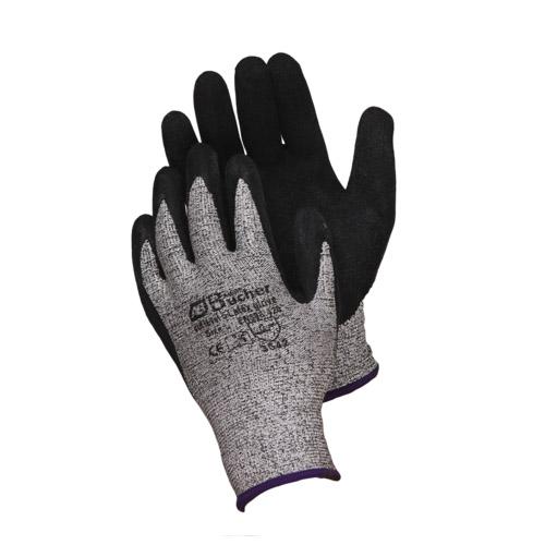 Противопорезные перчатки с рифленым латексным покрытием