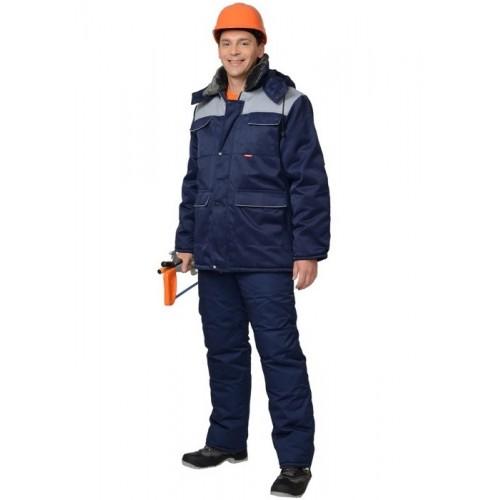 """Костюм """"ПРОФЕССИОНАЛ"""" зимний: куртка дл., брюки синий с серым"""