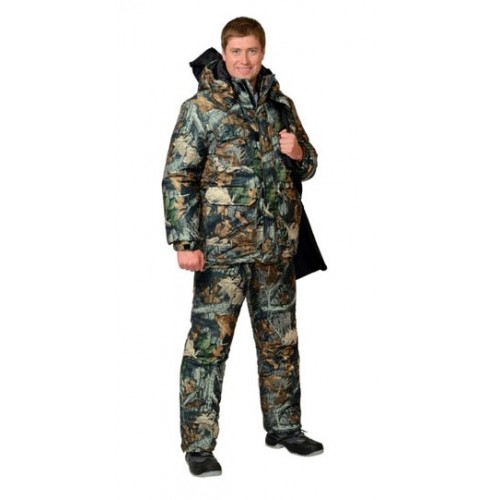"Костюм ""СНАЙПЕР"": куртка дл., полукомбинезон (тк. ""Алова"") КМФ ""Тёмный Лес"""