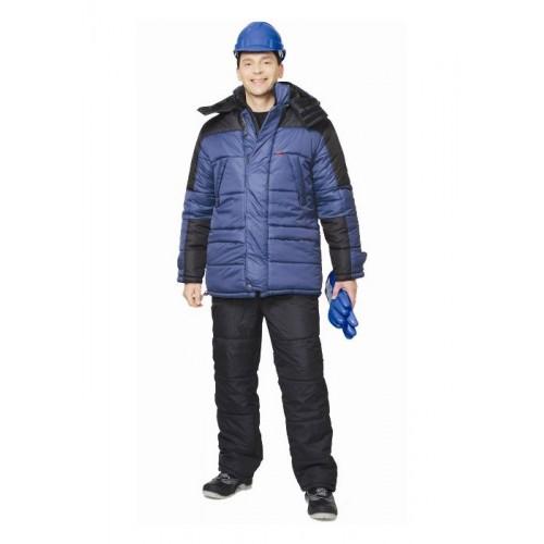 """Куртка """"ЕВРОПА"""" дл.,синяя с чёрным"""