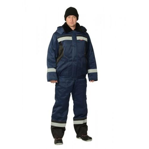 """Костюм """"МАСТЕР-Д"""": куртка кор.,полукомбинезон тёмно-синий с СОП"""